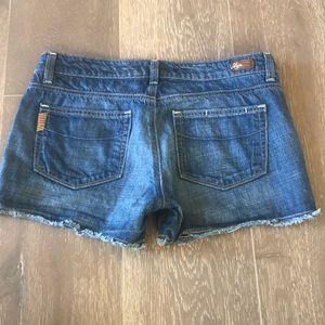 {PAIGE} Jean Shorts w/ Raw Hem. Size 28. EUC.